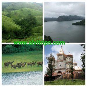 इडुक्की पर्यटन स्थलों के सुंदर दृश्य