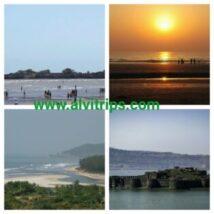 अलीबाग पर्यटन स्थलों के सुंदर दृश्य