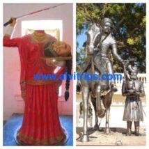 हाड़ी रानी के बलिदान को दर्शाती मूर्ति कला