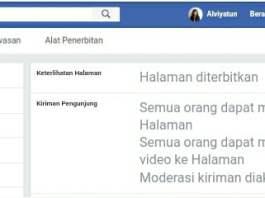 Seting kiriman pengunjung untuk moderasi kiriman orang lain di halaman facebook