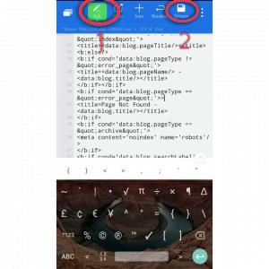Klik edit dan simpan setelah seselai mengedit template
