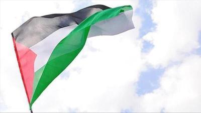 علم فلسطين على أعلى برج في العاصمة الكولومبية