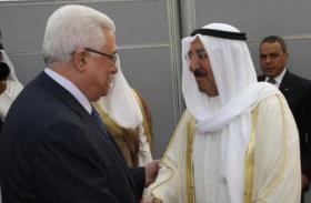 الرئيس عباس وأمير الكويت