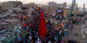 """مهرجان السجادة الحمراء يعقد في ميناء غزة تحت شعار """"بدنا نرجع"""""""
