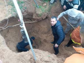 وفاة شاب اثر انهيار بئر مياه في معسكر جباليا شمال القطاع