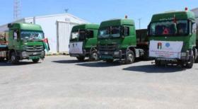 مساعدات أردنية إلى غزة