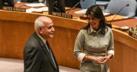 مندوب فلسطين بالأمم المتحدة: هيلي سفيرة كذابة