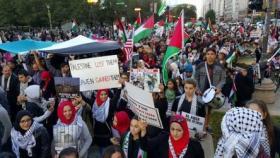 """مظاهرة في شيكاغو رفضا لنقل """"السفارة الأميركية"""" إلى القدس"""