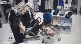 بالفيديو.. شاهد ما كشفته كاميرا مراقبة بمحل ملابس