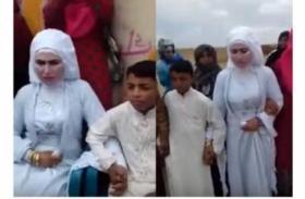 فيديو| زفاف غريب من نوعه في الأردن..!