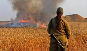 27 حريقًا في المستوطنات غلاف غزة بفعل الطائرات والبالونات الحارقة