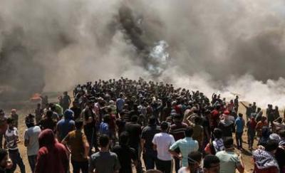 """127 شهيدا منذ بدء مسيرات العودة.. أربعة شهداء و618 إصابة برصاص الاحتلال في """"مليونية القدس"""" على حدود غزة"""