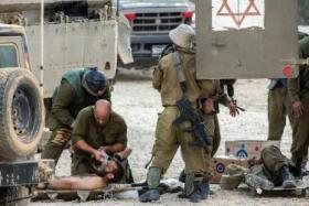اصابة احد جنود الاحتلال بمواجهات في الدهيشة