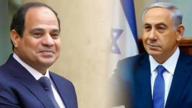 """تلفزيون إسرائيلي: السيسي لنتنياهو """"أنا أعول عليك"""" والأخير يطالبه بالضغط على عباس بشأن غزة"""