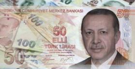 الليرة التركية تهبط أمام الدولار وتمحو مكاسب رفع الفائدة