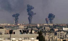 استهداف اسرائيلي شرقي مدينة رفح جنوب قطاع غزة
