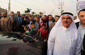 السفير العمادي يغادر قطاع غزة