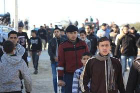 """إصابات بينهم صحفي برصاص الاحتلال في """"جمعة الوحدة طريق الانتصار"""" شرق غزة"""