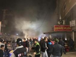 انلادع حريق في أحد مطاعم النصيرات
