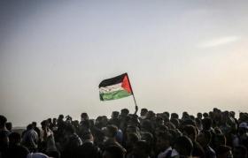 """جماهير قطاع غزة تتجهز لـ """"جمعة معا لمواجهة التطبيع"""" ضمن مسيرات العودة"""