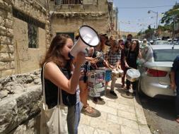 تظاهرة في سلوان ضد الاستيطان والسيطرة على المنازل الفلسطينية (صور)