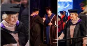 """""""لورنا"""" (90 سنة) حققت حلمها ونالت شهادتها الجامعة بعد الدراسة """"أونلاين"""".. لن تستسلم أبداً !"""