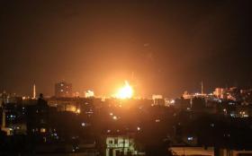 شاهد لحظة قصف موقع البحرية غرب مدينة غزة