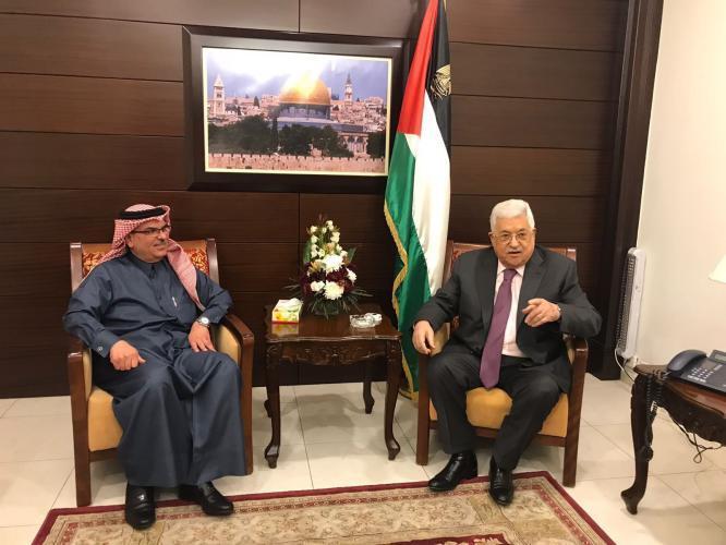 تفاصيل لقاء الرئيس عباس والسفير القطري محمد العمادي برام الله