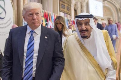 قرار مفاجئ من العاهل السعودي بعدما بات ترامب الذي يحميه في مهب الريح