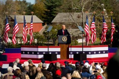 ترامب: حققت فوزا كاسحا في الانتخابات!
