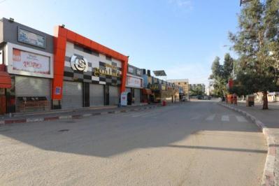 تواصل الإغلاق الشامل وحظر التجول في غزة لليوم الثاني (صور)