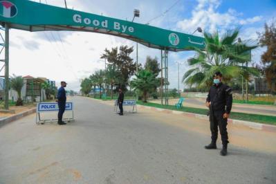 حظر التجوال الشامل يدخل يومه الثاني في قطاع غزة والضفة الغربية