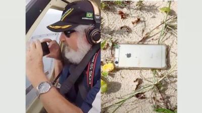 لحظة سقوط هاتف أيفون من طائرة.. وهذا ما صوره خلال وقوعه (شاهد اليوم)