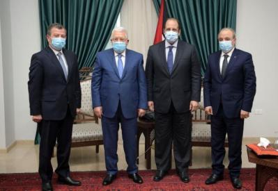 تفاصيل اجتماع الرئيس عباس مع رئيسي جهازي المخابرات المصرية والأردنية