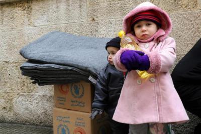 7,420 أسرة تستفيد من الخدمات الإغاثية في مدينة حلب