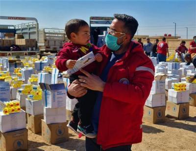 سوريا.. مساعدات إغاثية لـ 4885 أسرة في مدينة الحسكة