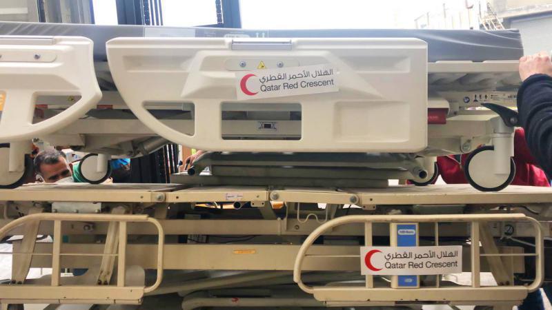 وصول المساعدات الطارئة المقدمة من الهلال الأحمر القطري