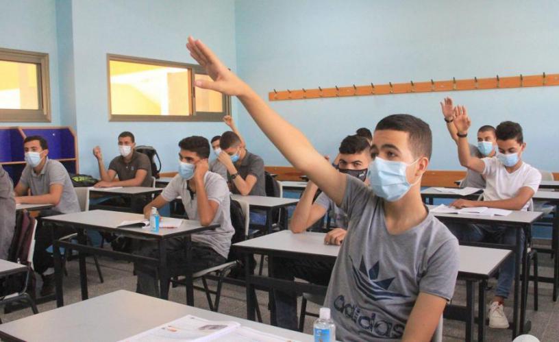 التعليم بغزة: هناك استقرار بالعملية التعليمية مع اتخاذ إجراءات السلامة والوقاية