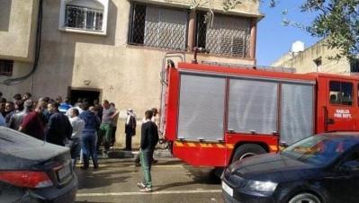 وفاة أُم وأطفالها الثلاثة بحريق داخل منزلهم في صرة غرب نابلس