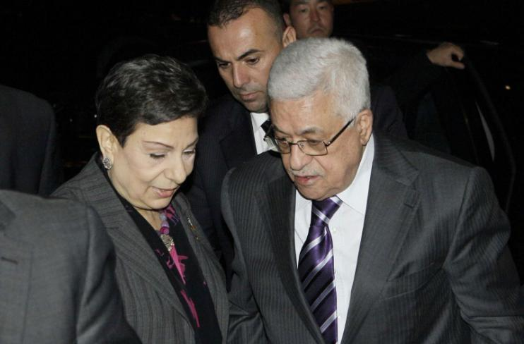 محمود عباس وحنان عشراوي - أرشيفية