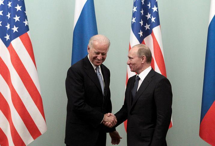 فلاديمير بوتين وجو بايدن - أرشيفية