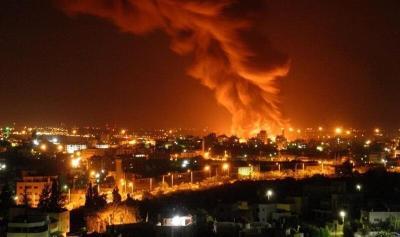 حريق في مصنع إسرائيلي بغلاف غزة (شاهد)