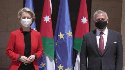 العاهل الأردني يلتقي رئيسة المفوضية الأوروبية