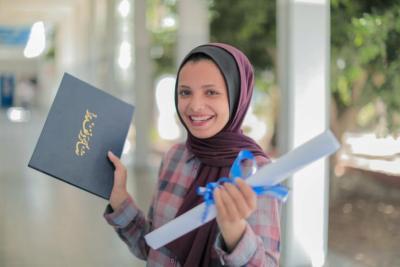 فوز طالبة من غزة بجائزة المهارات الخضراء الأوروبية