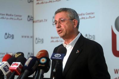 """البرغوثي: """"مسيرة الاعلام"""" فشلت وعبرت عن تطرف إسرائيل"""
