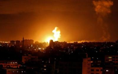 قوات الاحتلال تشن عدة غارات على قطاع غزة