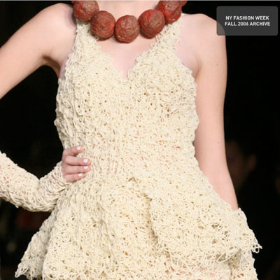 Spaghetti Dress with Meatball Necklace