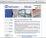 betweeen glass blinds website designed by alwaysinspired