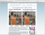 smartglass website designed by alwaysinspired