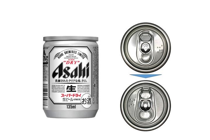 小容量135ml缶の開けやすい缶蓋